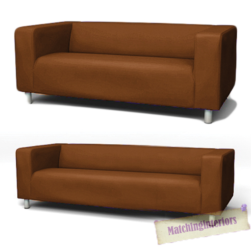 Brown cover slipcover to fit ikea klippan 2 or 4 seater sofa settee replacement ebay - Klippan sofa ikea ...