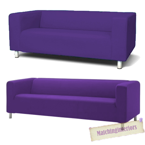 Purple Cover Slipcover To Fit Ikea Klippan 2 Or 4 Seater Sofa Settee Replacement Ebay