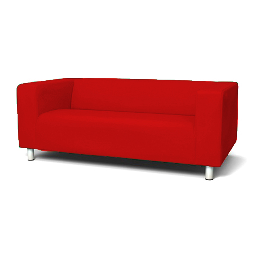 red cover slipcover to fit ikea klippan 2 or 4 seater sofa settee replacement. Black Bedroom Furniture Sets. Home Design Ideas