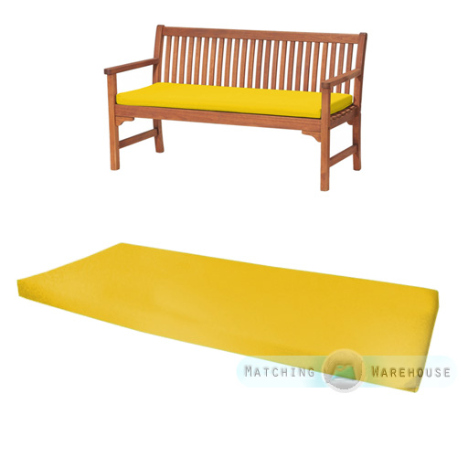 Outdoor Waterproof 3 Seater Bench Swing Seat Cushion ONLY Garden Furniture