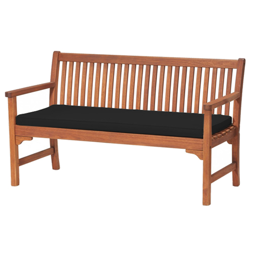 Black 2 Or 3 Seat Bench Swing Garden Seat Pad Home Floor