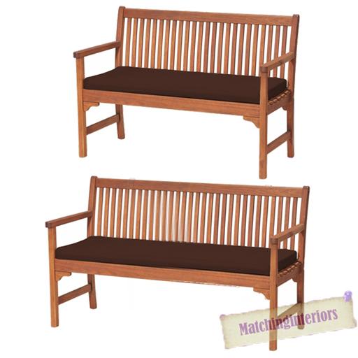 Brown 2 Or 3 Seat Bench Swing Garden Seat Pad Home Floor