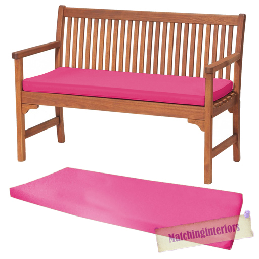 Pink 2 or 3 Seat Bench Swing Garden Seat Pad Home Floor Cushion Indoor Outdoor