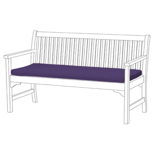 Purple 2 Or 3 Seat Bench Swing Garden Seat Pad Home Floor