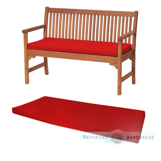 Red 2 Or 3 Seat Bench Swing Garden Seat Pad Home Floor