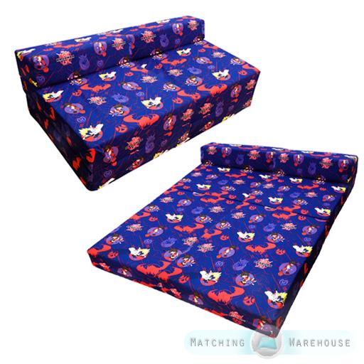 kinder doppelmatratze ausklappbar sofabett futon g ste. Black Bedroom Furniture Sets. Home Design Ideas
