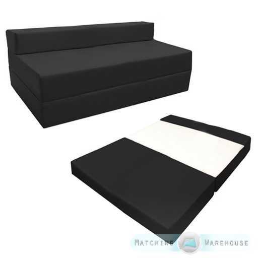 Fold Out Waterproof Double Guest Z Bed Chair Folding Mattress Sofa Bed Futon