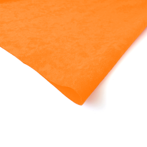 Orange Faux Suede Upholstery Textiles Fabric Material ...
