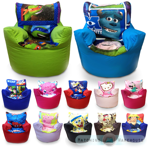 Children's Character Bean Bag Chairs Kids Disney Boys ...