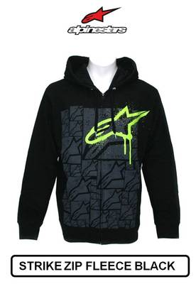 alpinestars strike monster energy hooded zip fleece hoodie. Black Bedroom Furniture Sets. Home Design Ideas