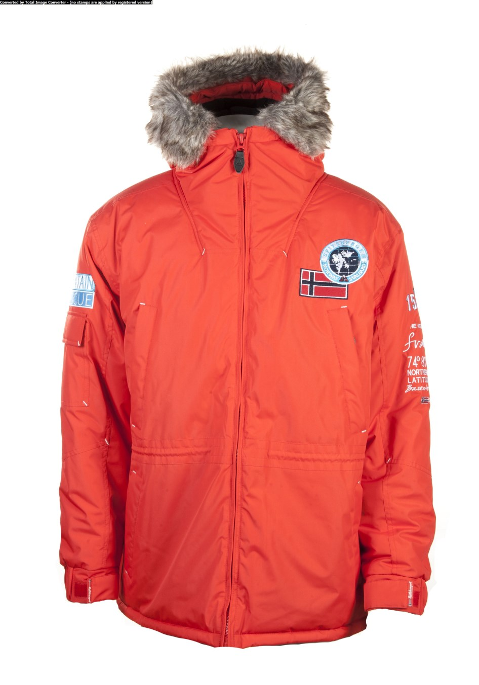 spitsbergen norway rescue herren winterjacke winter parka jacke jacket red ebay. Black Bedroom Furniture Sets. Home Design Ideas