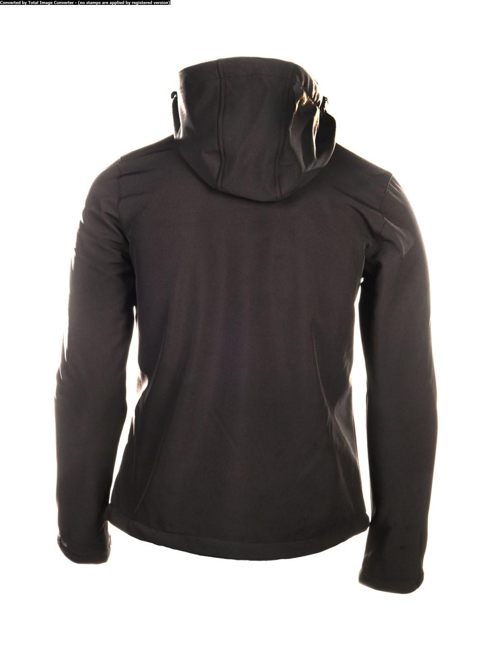 herren softshell spitsbergen golfjacke softshell jacke outdoor black hooded ebay. Black Bedroom Furniture Sets. Home Design Ideas