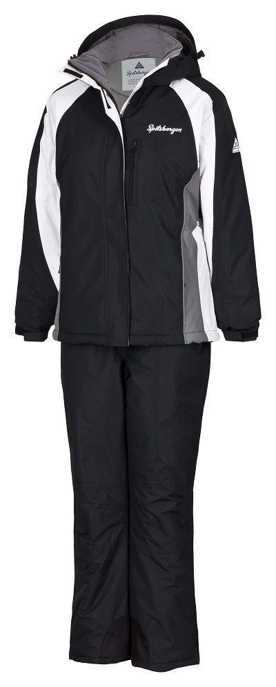 spitsbergen damen skianzug skijacke skihose schneeanzug winterjacke hose black l ebay. Black Bedroom Furniture Sets. Home Design Ideas