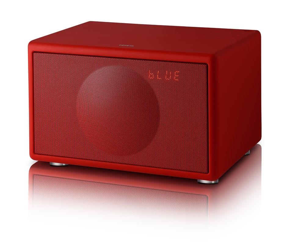 geneva model s dab matt red sound system radio bluetooth wireless ebay. Black Bedroom Furniture Sets. Home Design Ideas