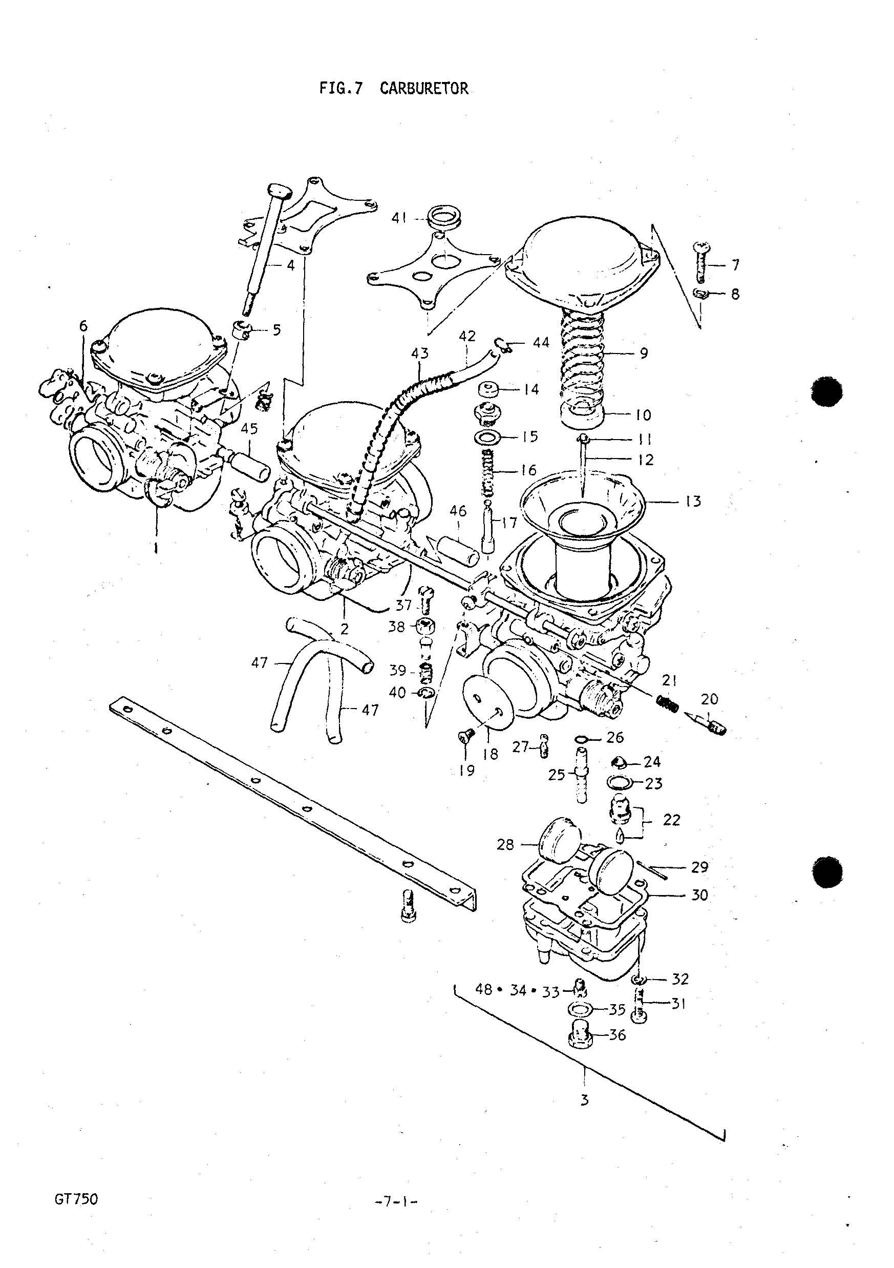 genuine suzuki gt750 l m 1974 75 carburetor pilot jet 47 5 09492 47017 000 ebay
