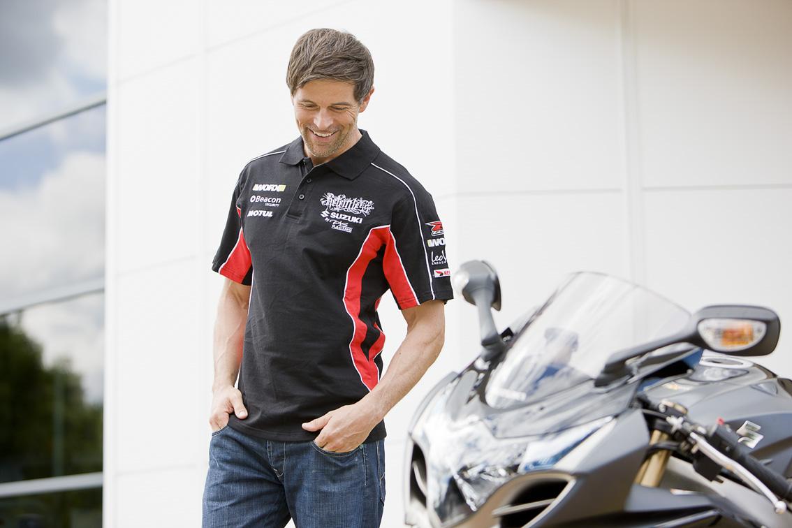 Genuine Suzuki Mens Relentless 2011 Team Casual Short Sleeved Polo Shirt Black