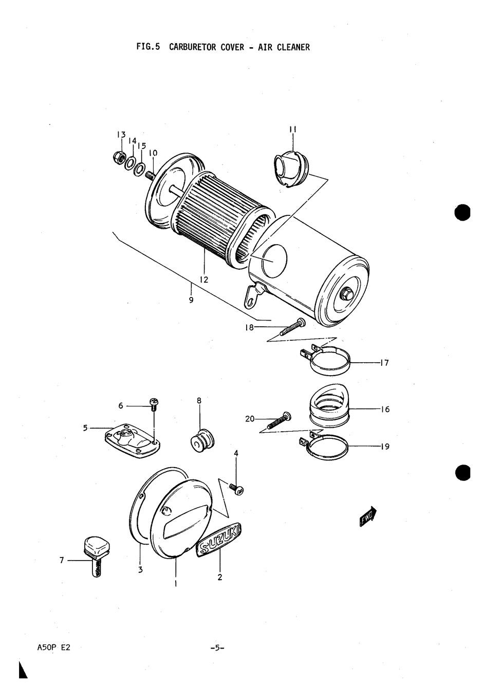 genuine suzuki a50p  ap50  carburetor cover screw 02112