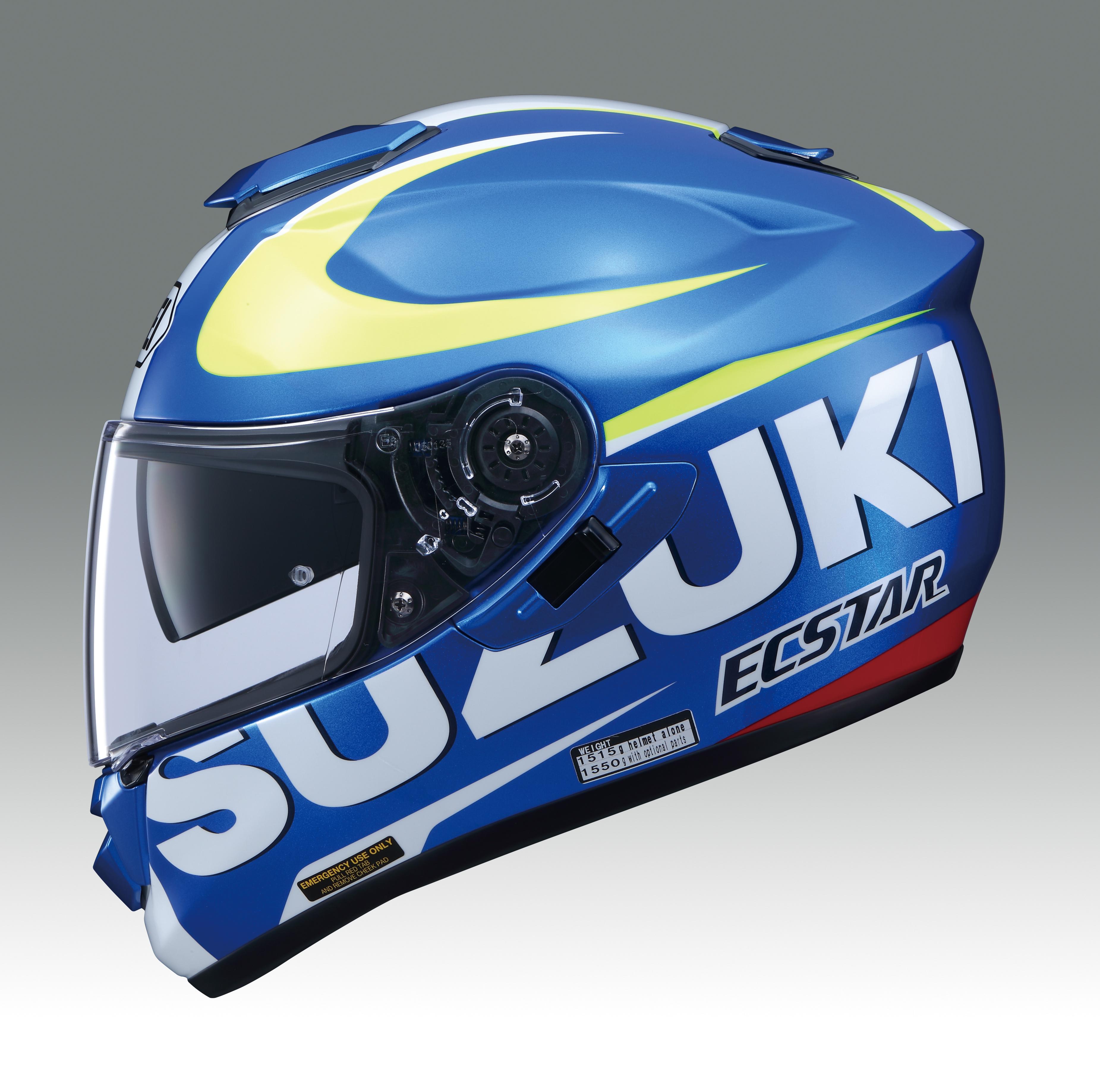 Full Motorcycle Helmet >> Genuine Suzuki MotoGP Shoei GT Air Helmet Full Face Shield Motorcycle Motorbike | eBay