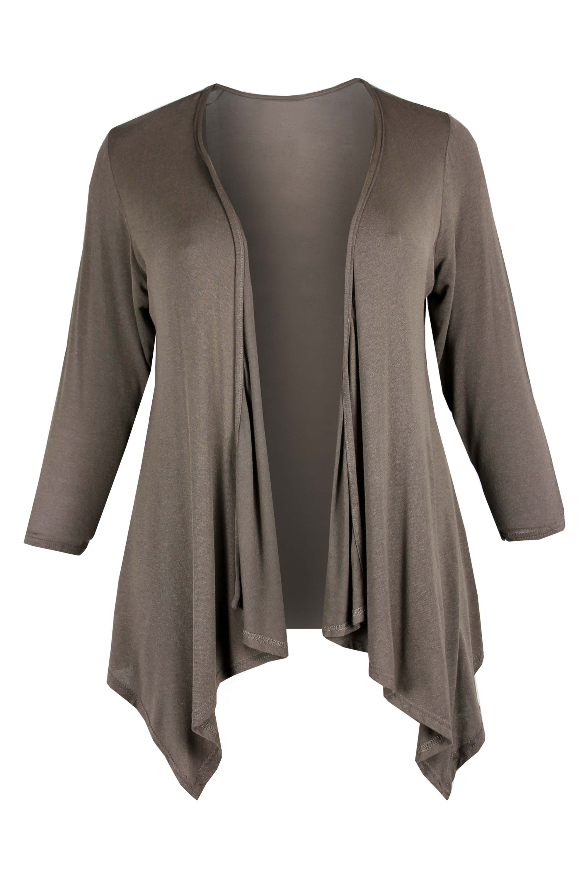 Product. This women's Irish waterfall cardigan by Irelands Eye is a favourite among all ages! It is soft, cosy and fashionable and perfect for someone who wants to wear over a shirt and leave to hang open.