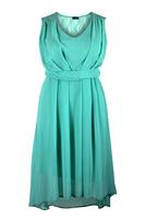 Lovedrobe Mint Green Pleated Lace Back Dress