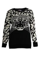 Lovedrobe Black/Stone Tiger Jumper