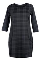 Ladies Black Tartan Check Dress
