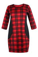 Ladies Red Tartan Check Dress