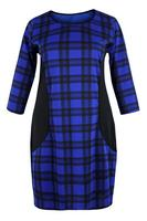 Ladies Blue Tartan Check Dress