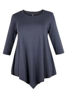 Lovedrobe Grey Three Quarter Sleeve Basic Tunic