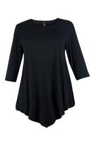 Lovedrobe Black Three Quarter Sleeve Basic Tunic
