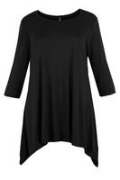 Lovedrobe Black Basic Asymmetric Tunic