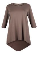 Lovedrobe Mocha Basic Dipped Hem Tunic