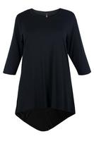 Lovedrobe Black Basic Dipped Hem Tunic