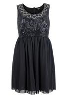 Lovedrobe Black Sleeveless Chiffon Dress with Sequin Embellishment