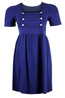 Ladies Royal Blue Military Style Dress