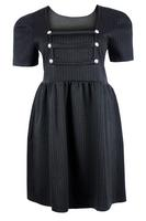 Ladies Grey Pin Stripe Military Style Dress