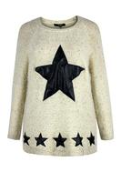 Koko Stone Fluffy PU Star Jumper