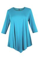 Lovedrobe Sky Blue Three Quarter Sleeve Basic Tunic