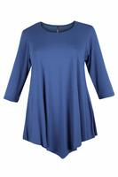 Lovedrobe Denim Blue Three Quarter Sleeve Basic Tunic