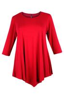 Lovedrobe Red Three Quarter Sleeve Basic Tunic