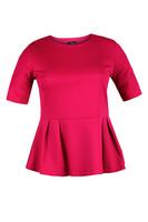 Lovedrobe Cerise Blister Peplum Top