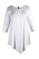 Lovedrobe White Three Quarter Sleeve Basic Tunic