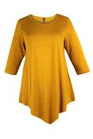 Lovedrobe Mustard Three Quarter Sleeve Basic Tunic