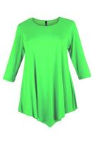Lovedrobe Lime Green Three Quarter Sleeve Basic Tunic