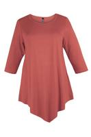 Lovedrobe Terracotta Three Quarter Sleeve Basic Tunic