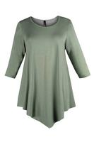 Lovedrobe Khaki Three Quarter Sleeve Basic Tunic