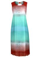Koko Mint/Multi Snakeskin Print Chiffon Maxi Dress