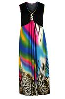 Koko Black/Multi Animal Rainbow Print Maxi Dress