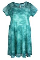 Koko Teal Lace Overlay Tie Dye Dress