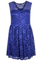 Lovedrobe Navy Lace Skater Dress